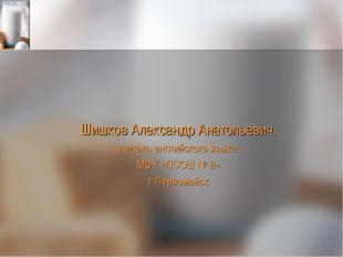 Шишков Александр Анатольевич, учитель английского языка МОУ «ПСОШ № 2» г.Перв
