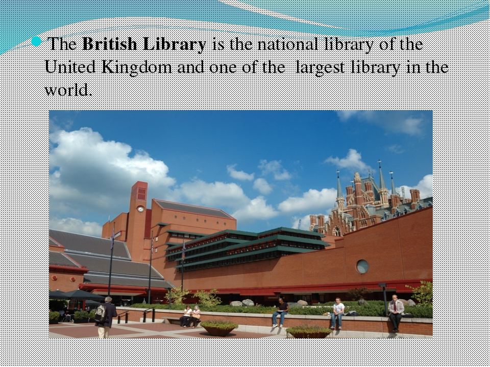 The British Library is the national library of the United Kingdom and one of...
