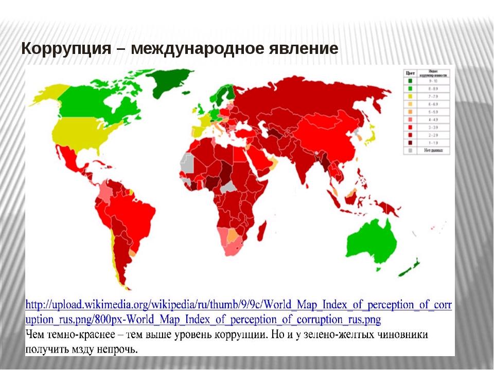 Коррупция – международное явление
