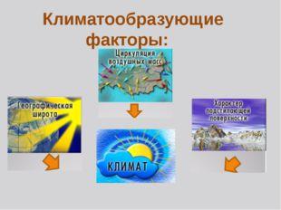 Климатообразующие факторы:
