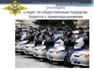 Органы внутренних дел (полиция) следят за общественным порядком, борются с пр