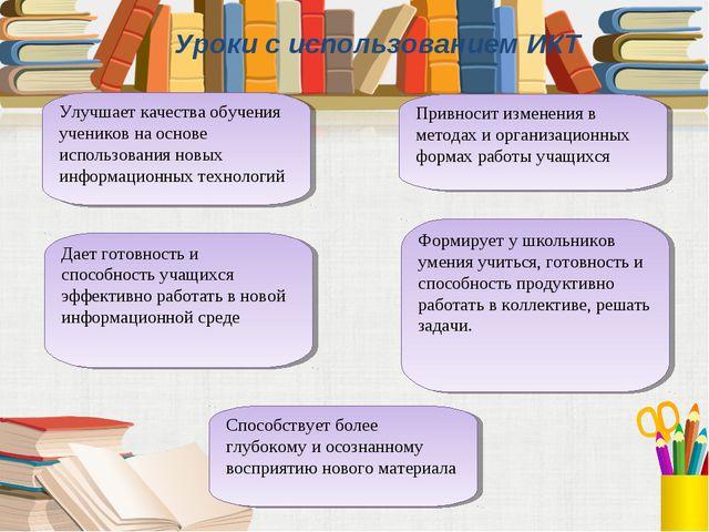 Уроки с использованием ИКТ Улучшает качества обучения учеников на основе испо...