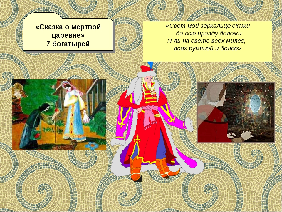 «Сказка о мертвой царевне» 7 богатырей «Свет мой зеркальце скажи да всю правд...