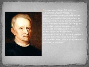 Это произошло более 300 лет назад. Английский учёный Роберт Гук рассматривал
