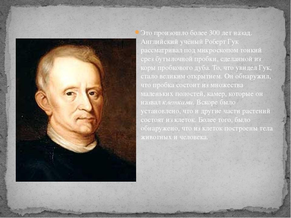 Это произошло более 300 лет назад. Английский учёный Роберт Гук рассматривал...