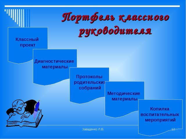 Портфель классного руководителя Классный проект Диагностические материалы Про...