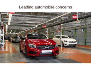 Leading automobile concerns
