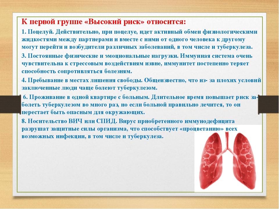 Вероятность заболеть туберкулезом