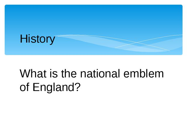 History What is the national emblem of England?