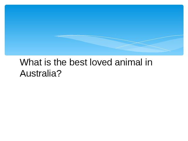 What is the best loved animal in Australia?