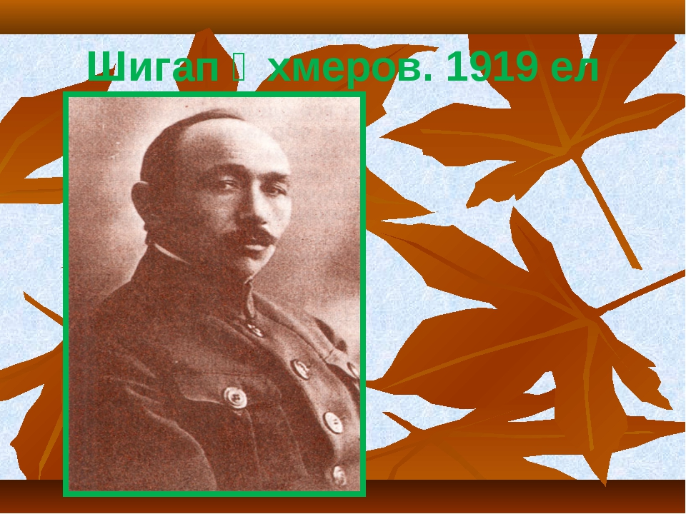 Шигап Әхмеров. 1919 ел