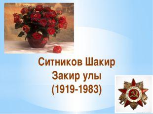 Ситников Шакир Закир улы (1919-1983)