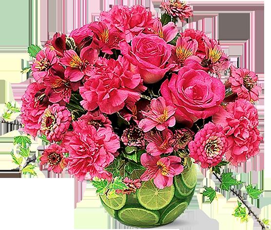 Букеты для любимых, розы, незабудки, тюльпаны - цветочный клипарт