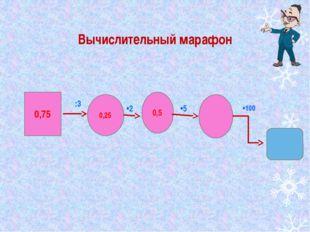 Вычислительный марафон 0,75 0,25 0,5 :3 •2 •5 •100