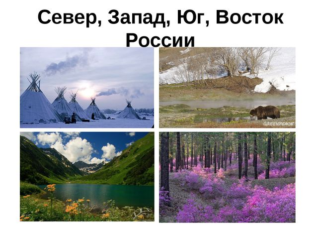 Север, Запад, Юг, Восток России