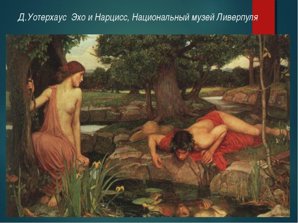Д.Уотерхаус Эхо и Нарцисс, Национальный музей Ливерпуля
