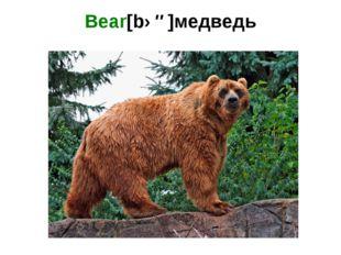 Bear[bɛə]медведь