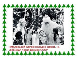 «Маленькой елочке холодно зимой…»,- любимая песня времен СССР