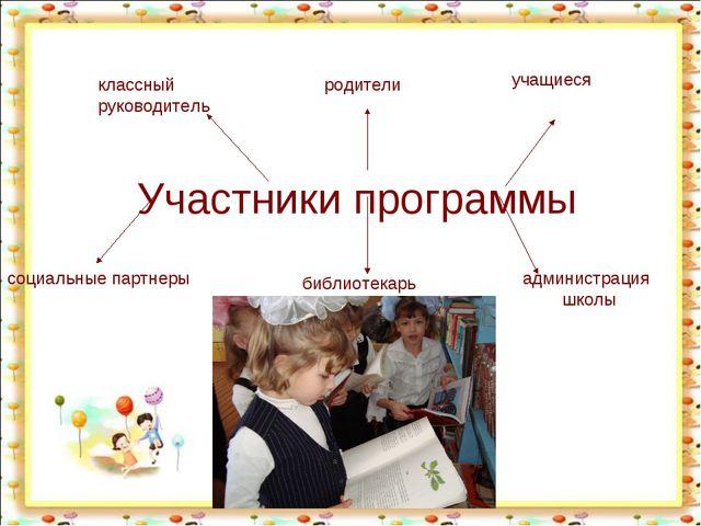 Участники программы администрация школы классный руководитель родители учащи...
