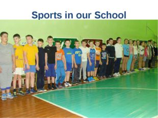 Sports in our School