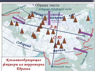 Климатообразующие факторы на территории Евразии Северный круг полярный Север