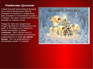 Рождество Христово Самый большой православный праздник после Пасхи (Воскресен