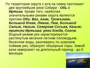 По территории округа с юга на север протекают две крупнейшие реки Сибири - Об