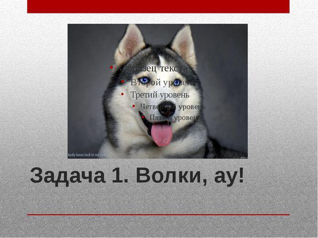 Задача 1. Волки, ау!