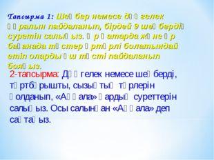 Тапсырма 1: Шеңбер немесе дөңгелек құралын пайдаланып, бірдей 9 шеңбердің сур