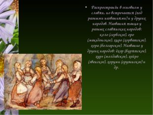 Распространён в основном у славян, но встречается (под разными названиями) и