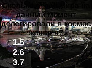 Сколько стран мира на данный момент делегировали в космос женщин? 1.5 2.6 3.7
