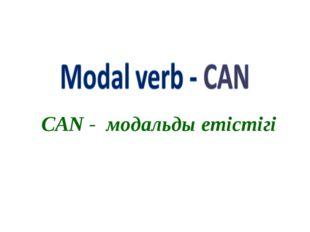 CAN - модальды етістігі