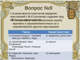 Вопрос №9 Сложная многоступенчатая иерархия персонажей у М.А.Булгакова содер