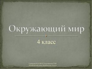 4 класс Горбунова Н.И. МОУ Остроленская СОШ Нагайбакский район Челябинская об