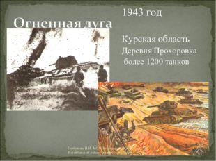 1943 год Курская область Деревня Прохоровка более 1200 танков Горбунова Н.И.