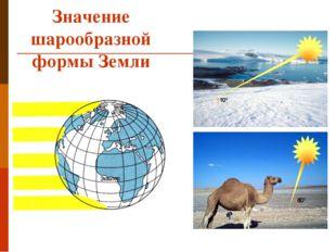 Значение шарообразной формы Земли