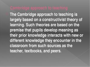 The goal of constructivist teaching is to develop deep understanding of the s