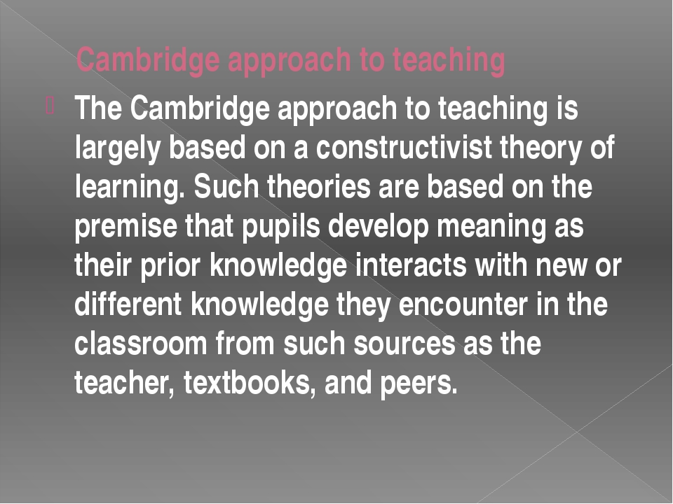 The goal of constructivist teaching is to develop deep understanding of the s...