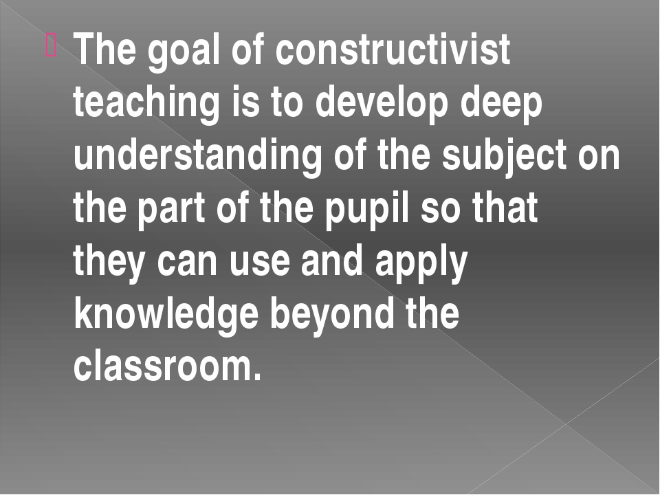 An important element of the teacher's role is to realize that individual pupi...