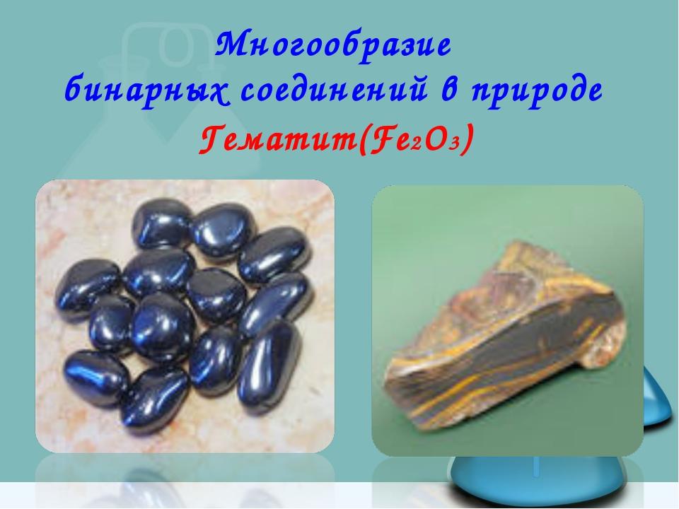 Многообразие бинарных соединений в природе Гематит(Fe2O3)