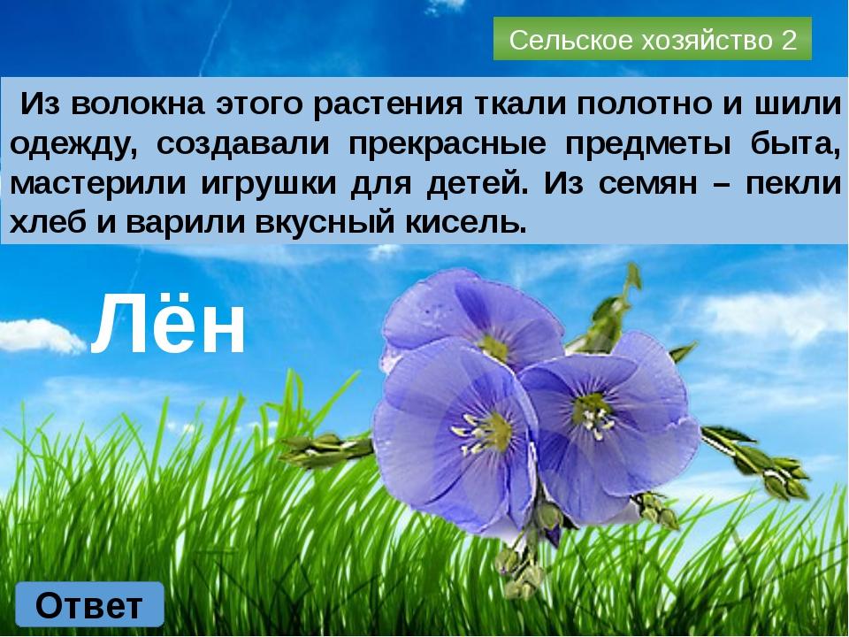 Сельское хозяйство 4 Ответ Злаковое растение, из крупы которого варят вкусную...