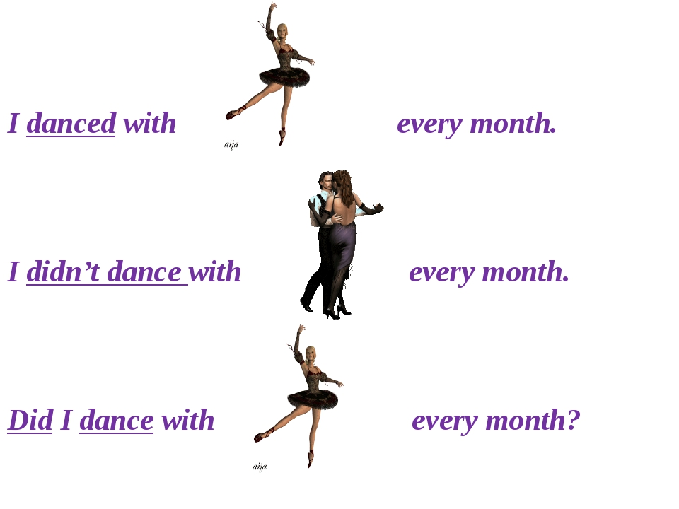 I danced with every month. I didn't dance with every month. Did I dance with...