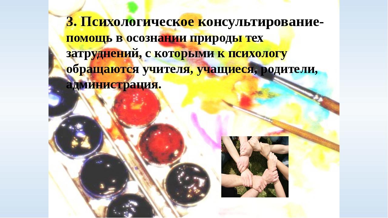 3. Психологическое консультирование- помощь в осознании природы тех затруднен...