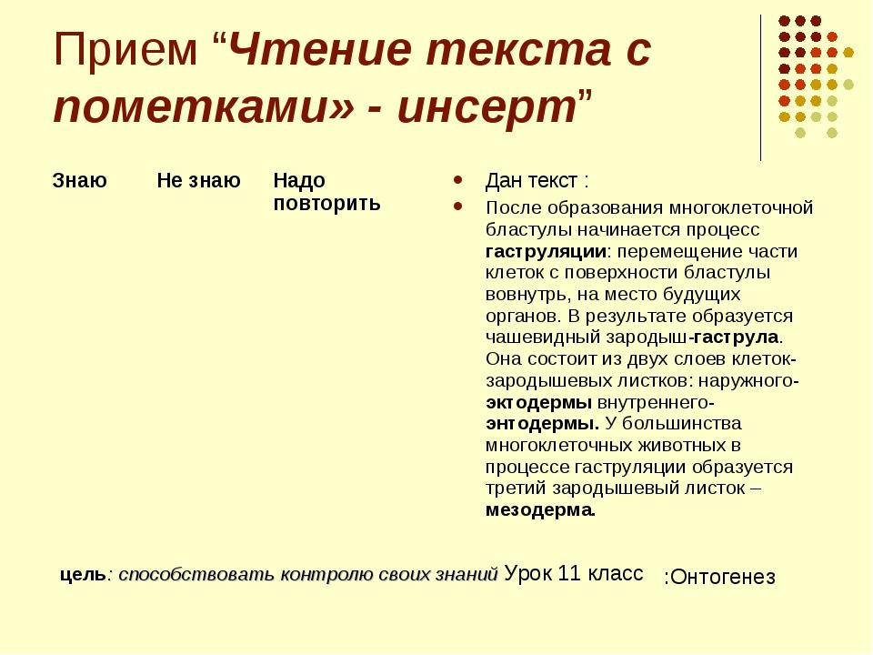 """Прием """"Чтение текста с пометками» - инсерт"""" Дан текст : После образования мно..."""