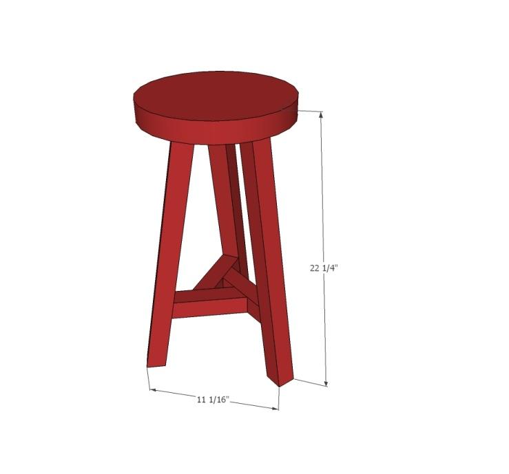 Круглый стул размеры