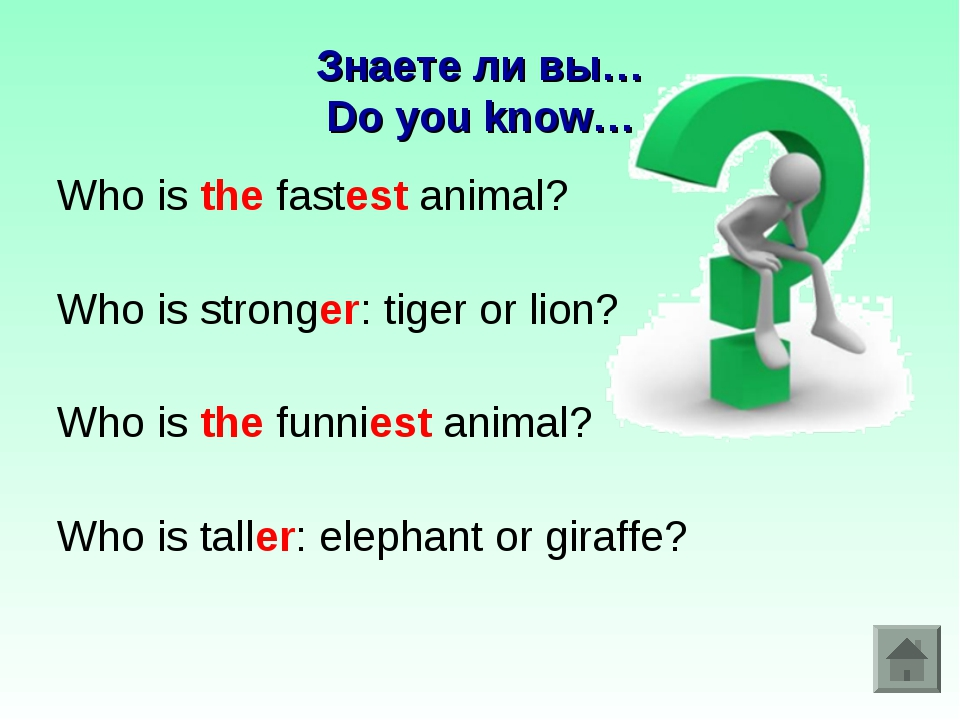Знаете ли вы… Do you know… Who is the fastest animal? Who is stronger: tiger...