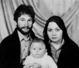 Игорь Тальков с женой и сыном