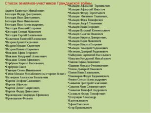 Авдеев Канистрат Михайлович Безгодов Федор Дмитриевич, Безгодов Иван Дмитриев