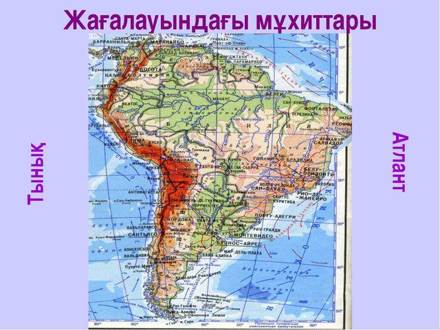 Жағалауындағы мұхиттары Тынық Атлант