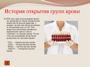 История открытия групп крови В XIX веке при исследовании крови на эритроцитах